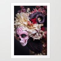 April Blossom Muertita Side Art Print