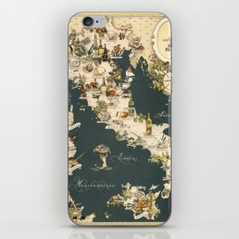 Gastronomic Map of Italy 1949 iPhone Skin