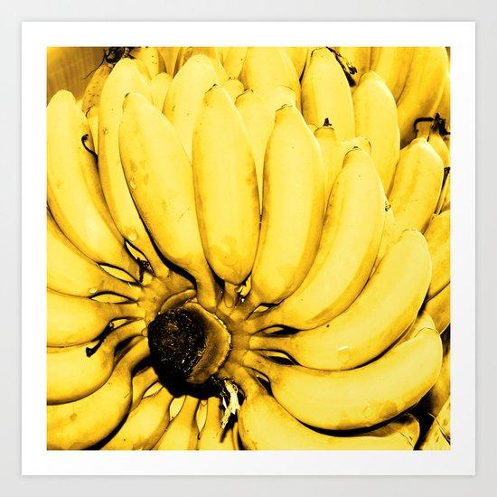 Yellow bananas Art Print