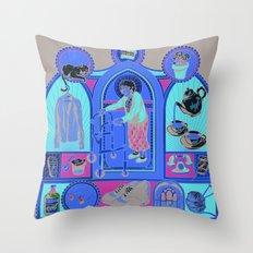 Ye Oldé Grandma Triptych Throw Pillow
