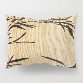 Japanese bamboo buddha wood art Pillow Sham