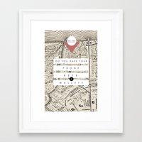 wallet Framed Art Prints featuring Phone, Keys, Wallet by Yael Cecilia Designs