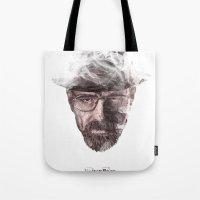 heisenberg Tote Bags featuring Heisenberg by malobi