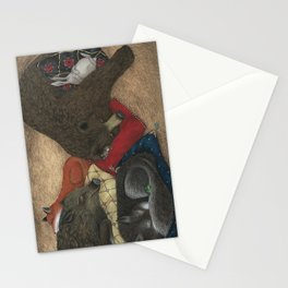 The Mitten - Sleeping Animals Stationery Cards