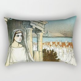 French opera ad Greek myth Helle 1896 Rectangular Pillow