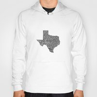 texas Hoodies featuring Typographic Texas by CAPow!