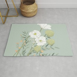 Soft and Sweet Floral Bouquet Rug