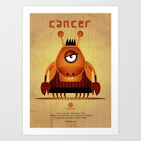 cancer Art Prints featuring CANCER by Angelo Cerantola