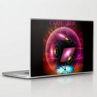 carpe diem Laptop & iPad Skins featuring Carpe Diem by Walter Zettl