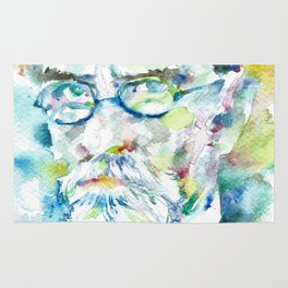 EDMUND HUSSERL - watercolor portrait Rug