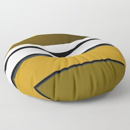 Golden Stripes Pattern Floor Pillow