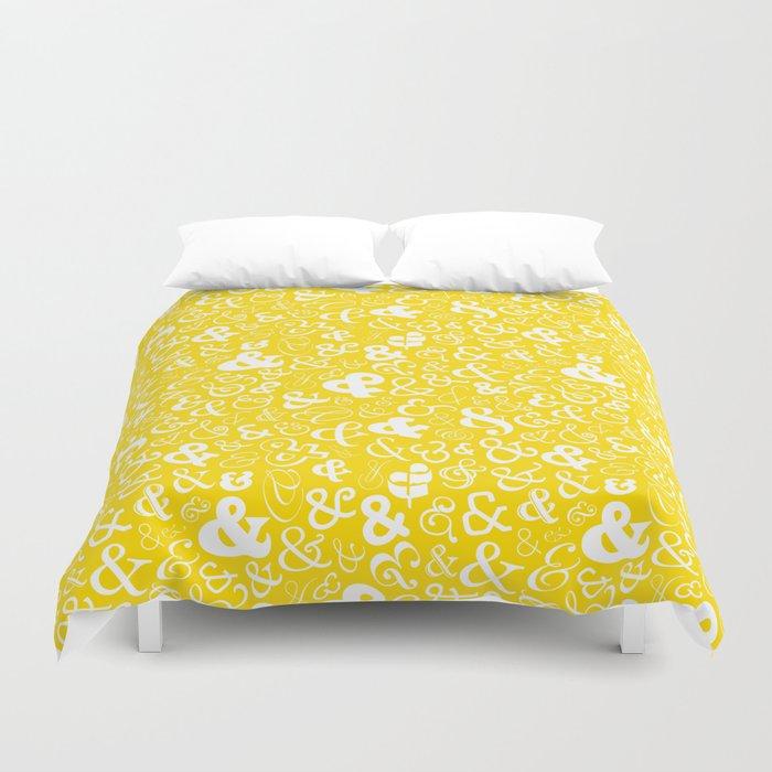 Ampersands - Yellow Duvet Cover