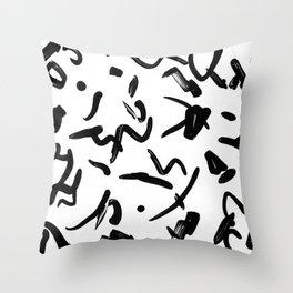 stroked Throw Pillow