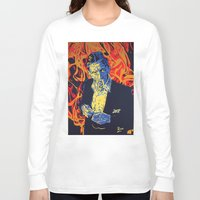 johnny cash Long Sleeve T-shirts featuring Johnny Cash by Rich Anderson