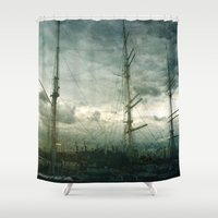 sailboat Shower Curtains featuring Sailboat by Fine2art