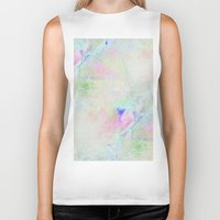 cracked Biker Tanks featuring cracked rainbow by Hoeroine