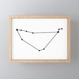 Capricorn Star Sign Black & White Framed Mini Art Print