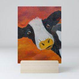 Through the storm with Irma the cow Mini Art Print