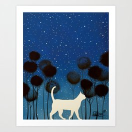 THE POETRY OF A NIGHT by Raphaël Vavasseur Art Print