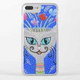 Cat Flowerpot Clear iPhone Case