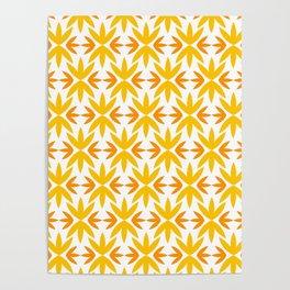 Yellow Tile Pattern 70s #pattern #yellow #vintage Poster