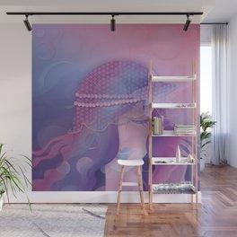 Mermaid IV - Pink Violet Princess Wall Mural