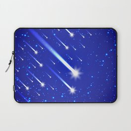 Space background with stars and comets Laptop Sleeve