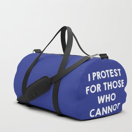 I protest for those who cannot - purple Duffle Bag