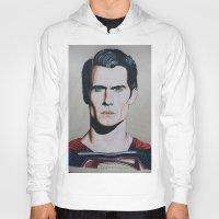 man of steel Hoodies featuring Superman (Man of Steel) by JMH Art