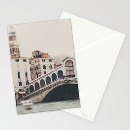 The Rialto Bridge in Venice, Italy Stationery Cards