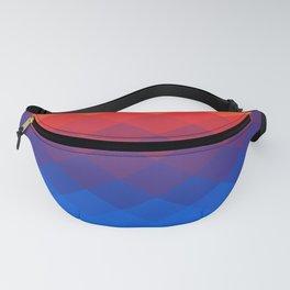 Polygonal Rainbow Fanny Pack