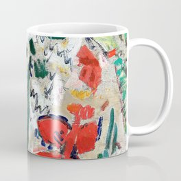 Girl in a shawl, St Paul de Vence beyond - Digital Remastered Edition Coffee Mug
