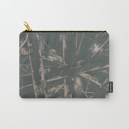 Linear Bamboo Leaf Carry-All Pouch