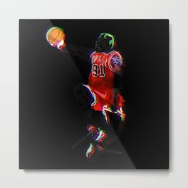 The Worm Rodman Metal Print