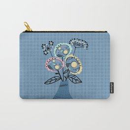 Quilling, flowers in vase Carry-All Pouch