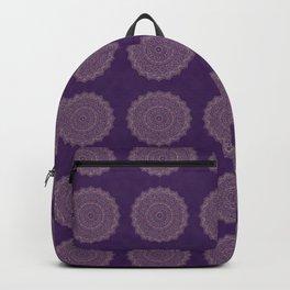 Rose Gold Marble Mandala Ultra Violet Textured Backpack