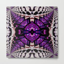 Purple stone hinged mirrored psychedelic Metal Print