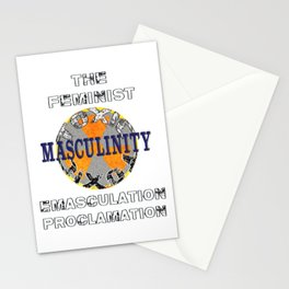 Toxic Masculinity  -  Emasculation Proclamation Stationery Cards