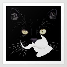 Louis The Cat Art Print