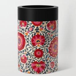 Kermina Suzani Uzbekistan Embroidery Print Can Cooler