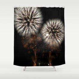 Bokeh Sparkle (Fireworks) Shower Curtain