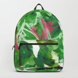 Green Abstract Mixed-Media: Nature Backpack