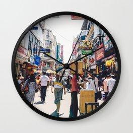 Streets of the Market, Colombo, Sri Lanka Wall Clock