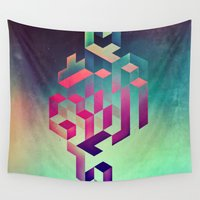 spires Wall Tapestries featuring isyhyrtt dyymyndd spyyre by Spires