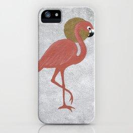 Rose Gold Flamingo iPhone Case