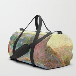 Stacks of Wheat (End of Summer) - Claude Monet Duffle Bag