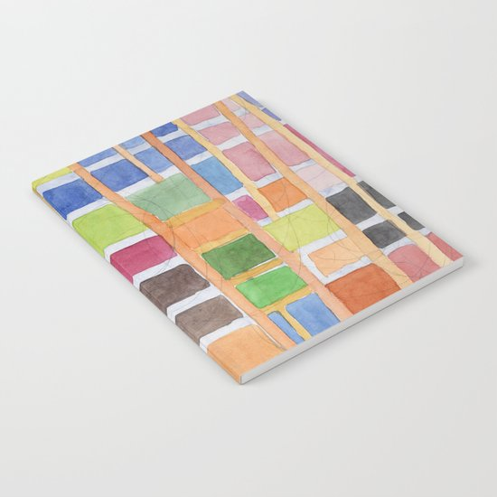Rectangle Pattern With Sticks Notebook