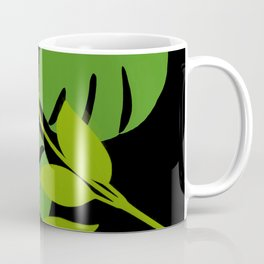 Simply Tropical Leaves with Black Background Coffee Mug