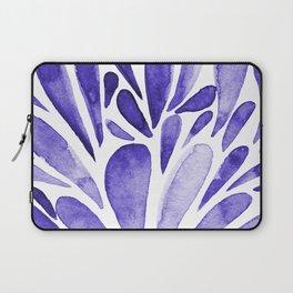 Watercolor artistic drops - electric blue Laptop Sleeve