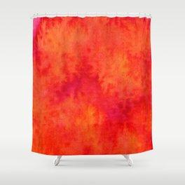 Sunset Blush Red Shower Curtain